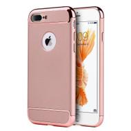 GripTech 3-Piece Chrome Frame Case for iPhone 8 Plus / 7 Plus - Rose Gold
