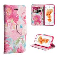*SALE* Executive Graphic Leather Wallet Case for iPhone 8 Plus / 7 Plus - Watercolor Floral