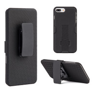 Kickstand Protective Case and Holster for iPhone 8 Plus / 7 Plus - Black