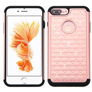 TotalDefense Diamond Hybrid Case for iPhone 7 Plus - Rose Gold