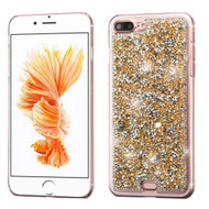 Desire Bling Bling Crystal Cover for iPhone 8 Plus / 7 Plus - Rhinestones Gold