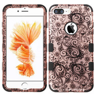 Military Grade TUFF Image Hybrid Armor Case for iPhone 8 Plus / 7 Plus - Leaf Clover Rose Gold