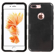 Military Grade TUFF Image Hybrid Armor Case for iPhone 8 Plus / 7 Plus - Carbon Fiber