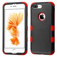 TUFF Hybrid Armor Case for iPhone 8 Plus / 7 Plus - Black Red
