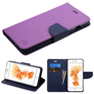 Diary Leather Wallet Case for iPhone 8 Plus / 7 Plus - Purple