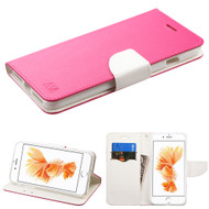 Diary Leather Wallet Case for iPhone 8 Plus / 7 Plus - Hot Pink