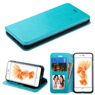 Book-Style Leather Folio Case for iPhone 8 Plus / 7 Plus - Blue