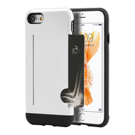 Card To Go Hybrid Case with Card Stand for iPhone 8 / 7 - White