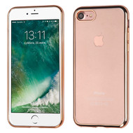 Electroplating Clear TPU Case for iPhone 8 / 7 - Gold