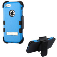 Military Grade Certified TUFF Hybrid Armor Kickstand Case with Holster for iPhone 8 / 7 - Blue