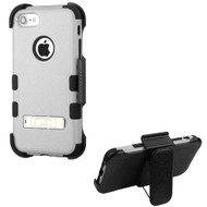 *Sale* Military Grade TUFF Hybrid Armor Kickstand Case with Holster for iPhone 8 / 7 - Grey