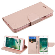 *SALE* Diary Leather Wallet Case for iPhone 7 - Rose Gold