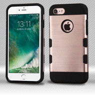 Military Grade TUFF Trooper Dual Layer Hybrid Armor Case for iPhone 8 / 7 - Brushed Rose Gold