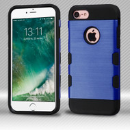 Military Grade Certified TUFF Trooper Dual Layer Hybrid Armor Case for iPhone 8 / 7 - Brushed Blue