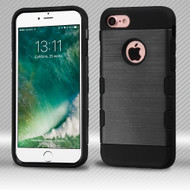 Military Grade TUFF Trooper Dual Layer Hybrid Armor Case for iPhone 8 / 7 - Brushed Black