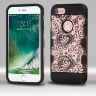 Military Grade Certified TUFF Trooper Dual Layer Hybrid Armor Case for iPhone 8 / 7 - Leaf Clover Rose Gold