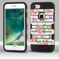 Military Grade Certified TUFF Trooper Dual Layer Hybrid Armor Case for iPhone 8 / 7 - Fresh Roses