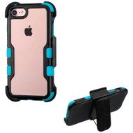 *Sale* TUFF Vivid Hybrid Armor Case with Holster for iPhone 8 / 7 - Black Teal