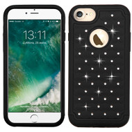 TotalDefense Diamond Hybrid Case for iPhone 8 / 7 - Black