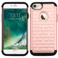 TotalDefense Diamond Hybrid Case for iPhone 8 / 7 - Rose Gold