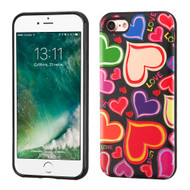 Graphic Advanced Armor Hybrid Case for iPhone 8 / 7 - Colorful Hearts