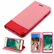 Premium Leather Wallet Book Case for iPhone 8 / 7 - Pink