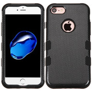 Military Grade Certified TUFF Image Hybrid Armor Case for iPhone 8 / 7 - Carbon Fiber