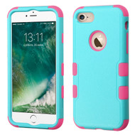 Military Grade Certified TUFF Hybrid Armor Case for iPhone 8 / 7 - Teal Hot Pink