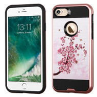 Brushed Graphic Hybrid Armor Case for iPhone 8 / 7 - Spring Flowers