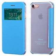 Book-Style Hybrid Flip Case with Window Display for iPhone 8 / 7 - Blue