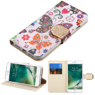 Art Design Portfolio Leather Wallet for iPhone 8 / 7 - Butterfly Wonderland