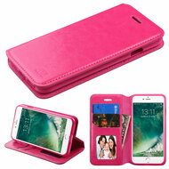 *Sale* Book-Style Leather Folio Case for iPhone 8 / 7 - Hot Pink