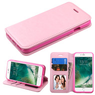 Book-Style Leather Folio Case for iPhone 8 / 7 - Pink