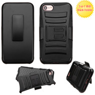 Advanced Armor Hybrid Kickstand Case with Holster for iPhone 8 / 7 - Black