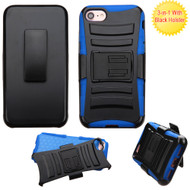 Advanced Armor Hybrid Kickstand Case with Holster for iPhone 8 / 7 - Black Blue