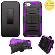 Advanced Armor Hybrid Kickstand Case with Holster for iPhone 8 / 7 - Black Purple
