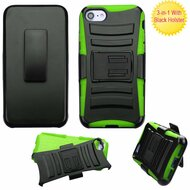 Advanced Armor Hybrid Kickstand Case with Holster for iPhone 8 / 7 - Black Green