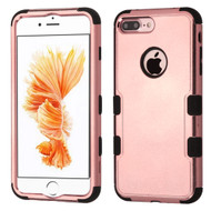 Military Grade TUFF Hybrid Armor Case for iPhone 8 Plus / 7 Plus - Rose Gold Electroplating