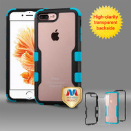 TUFF Vivid Hybrid Armor Case for iPhone 8 Plus / 7 Plus - Black Teal