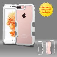 TUFF Vivid Hybrid Armor Case for iPhone 8 Plus / 7 Plus - White Grey