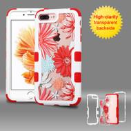 TUFF Vivid Graphic Hybrid Armor Case for iPhone 8 Plus / 7 Plus - Spring Daisies