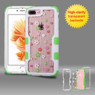 TUFF Vivid Graphic Hybrid Armor Case for iPhone 8 Plus / 7 Plus - Tiny Blossoms
