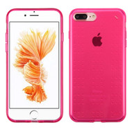 Perforated Transparent Cushion Gelli Skin Cover for iPhone 8 Plus / 7 Plus - Hot Pink