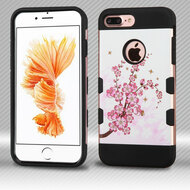 Military Grade Certified TUFF Trooper Dual Layer Hybrid Armor Case for iPhone 8 Plus / 7 Plus - Spring Flowers