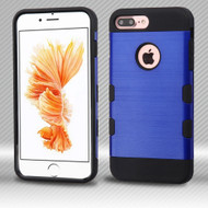 Military Grade TUFF Trooper Dual Layer Hybrid Armor Case for iPhone 8 Plus / 7 Plus - Brushed Blue