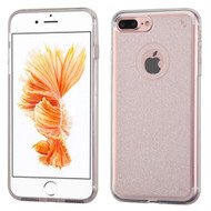 Premium Sparkling Sheer Glitter Candy Skin Cover for iPhone 8 Plus / 7 Plus - Clear