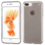 Premium Sparkling Sheer Glitter Candy Skin Cover for iPhone 8 Plus / 7 Plus - Smoke