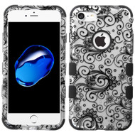 Military Grade Certified TUFF Image Hybrid Armor Case for iPhone 8 / 7 - Leaf Clover Black