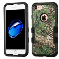 Military Grade Certified TUFF Image Hybrid Armor Case for iPhone 8 / 7 - Pine Tree Camouflage