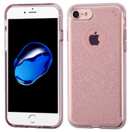 Premium Sparkling Sheer Glitter Candy Skin Cover for iPhone 8 / 7 - Rose Gold